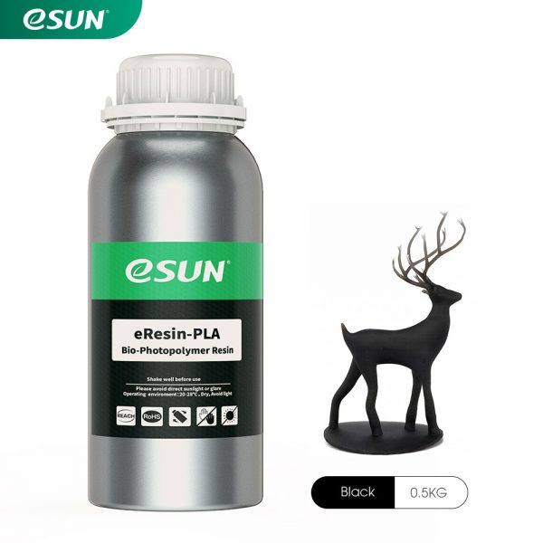 eSun Resin PLA Bio-Based LCD Black 0.5KG