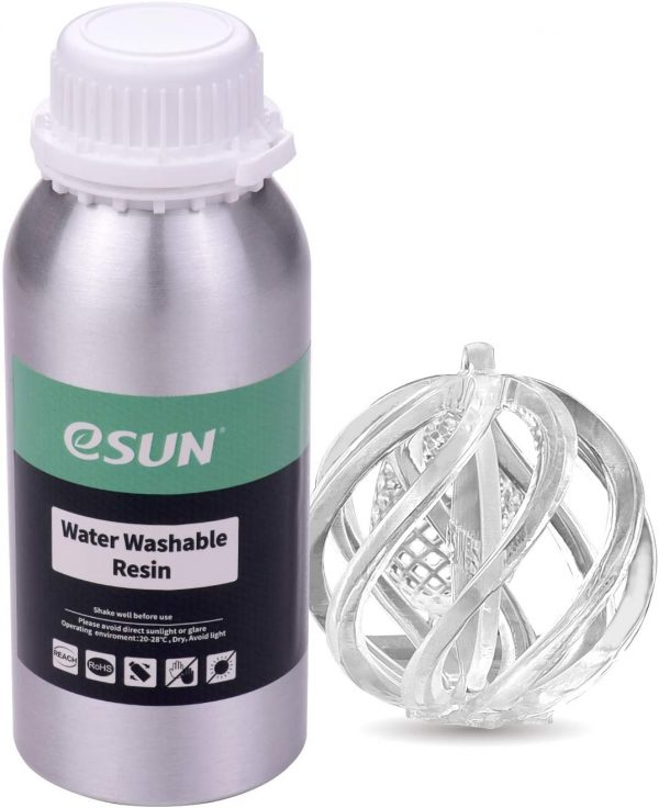0.5kg clear eSun - Water-Washable Resin 500g - Clear
