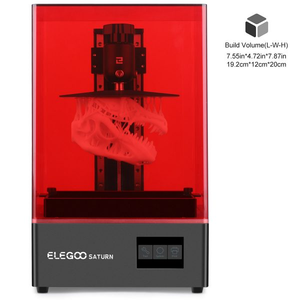 Saturn 3D Printer ELEGOO. Elegoo Saturn 3D Printer + BONUS 2 x eSun PLA Bio-Based Resin 500g (Gray)