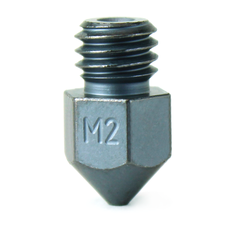 m2500 04 01 Micro Swiss - 0.4mm M2 Hardened High Speed Steel Nozzle - MK8 (CR10 / Ender / Tornado / MakerBot)