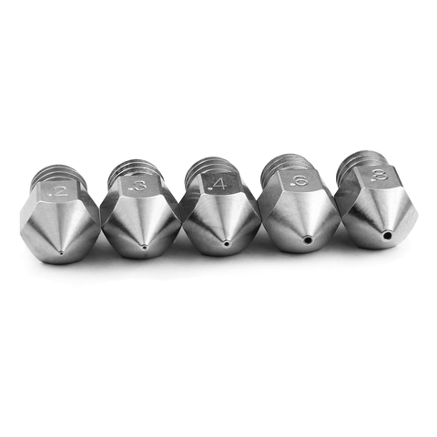 m2549 02 3 Micro Swiss - Value Pack - MK8 Plated Wear Resistant Nozzle (CR10 / Ender / Tornado / MakerBot)
